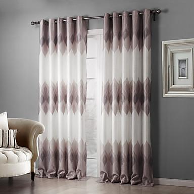 Schlaufen für Gardinenstange Ösen Schlaufen Zweifach gefaltet zwei Panele Window Treatment Landhaus Stil, Druck Schlafzimmer Polyester