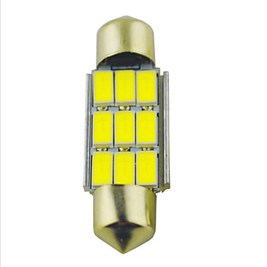 Carking™ Festoon 36mm-5630-9SMD Car LED Rome Lamp   White Light (12V/2PCS)