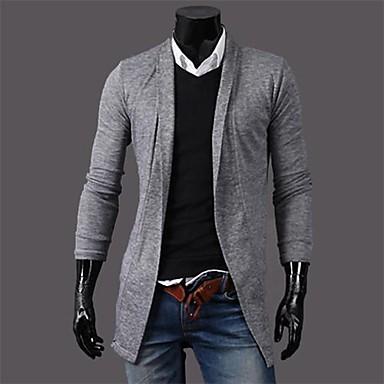 Men's New Fashion No Buckle Swallowtail Long Sleeve Coat