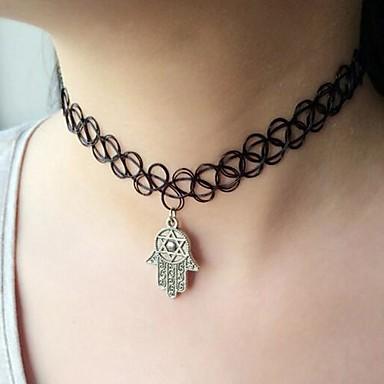 Черный Ожерелья с подвесками Сплав Для вечеринок / Повседневные Бижутерия
