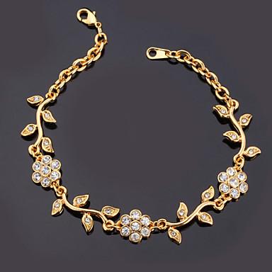 Damen Synthetischer Diamant Strass vergoldet Diamantimitate Ketten- & Glieder-Armbänder Armband - Modisch Golden Armbänder Für Weihnachts