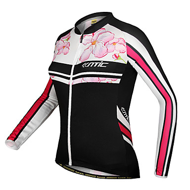 SANTIC Women's Long Sleeves Bike Jersey Jacket Floral / Botanical