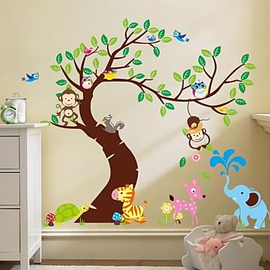 zooyoo® maimuță amovibil pe autocolante de perete copac cald etichetele de vânzare de perete pentru decor acasă
