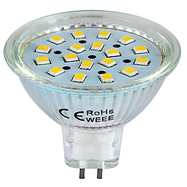3W GU5.3(MR16) LED Σποτάκια 18 SMD 2835 260 lm Θερμό Λευκό / Ψυχρό Λευκό DC 12 V