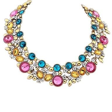 Damen Statement Ketten  -  Europäisch Schwarz Blau Regenbogen Modische Halsketten Für