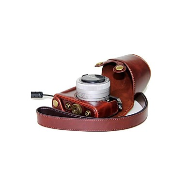 dengpin® piele camera de protecție capac caz geanta cu curea de umăr pentru lumix dmc-GM1 panasonic cu lentile 12-32mm