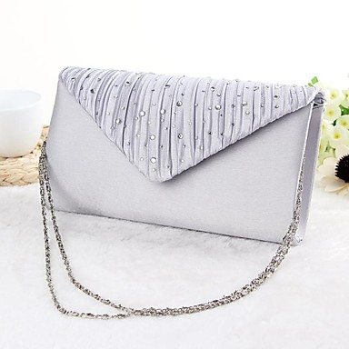 cheap Wedding HandBags-Women's Bags Silk Evening Bag for Event / Party Black / Silver / Beige / Wedding Bags
