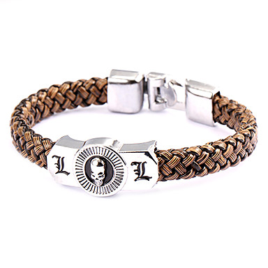Jewelry Inspired by Death Note L.Lawliet Anime Cosplay Accessories Bracelet PU Leather Alloy Men's Hot