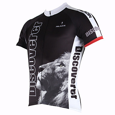 ILPALADINO Cycling Jersey Men's Short Sleeves Bike Jersey Top Quick Dry Ultraviolet Resistant Breathable Polyester 100% Polyester Cartoon