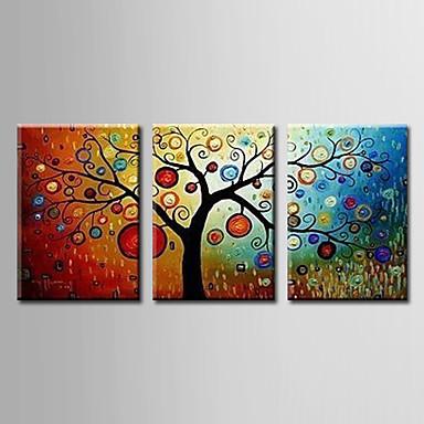 Pintados à mão Abstrato Panorâmico horizontal, Modern Pintura a Óleo Decoração para casa 3 Painéis