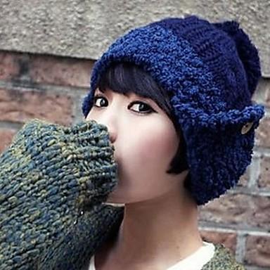moda coreano gorro de lana botón de las mujeres 2188749 2019 –  10.49 0d78888cd5b