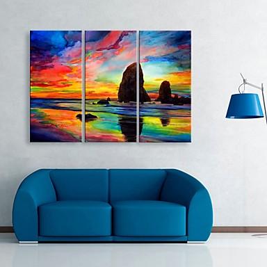 Landschaft Drei Paneele Vertikal Druck Wand Dekoration Haus Dekoration