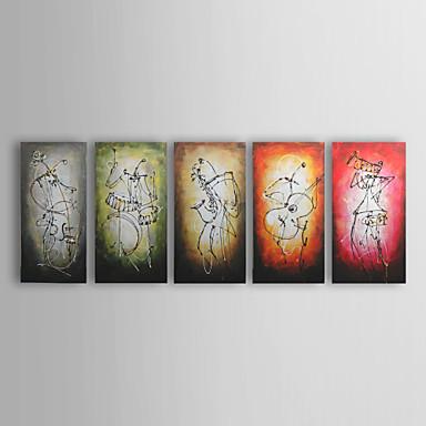 Hang-malované olejomalba Ručně malované - Abstraktní Moderní tradiční Plátno