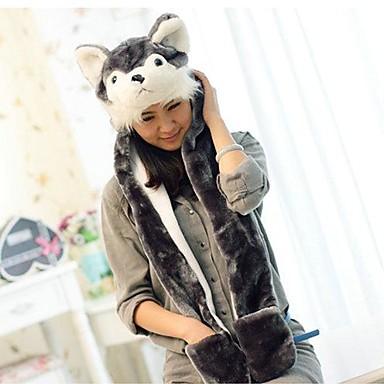 Kigurumi Pyjama  Dog Hoed Festival/Feestdagen Dieren nachtkleding Halloween Print Nepbont Hoeden Voor Unisex Halloween Carnaval