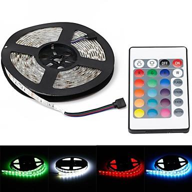 ZDM® 5m Lichtsets 300 LEDs 1 24Keys Fernbedienung 1 Gleichstromkabel RGB Wasserfest Dekorativ 12V 1set