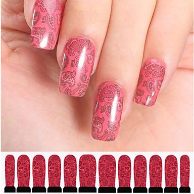 12 Nagelkunst sticker Wateroverdracht Sticker Abstract make-up Cosmetische Nagelkunst ontwerp