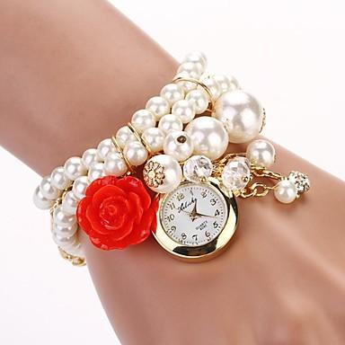 Жен. Модные часы Часы-браслет Кварцевый сплав Группа Жемчуг Белый