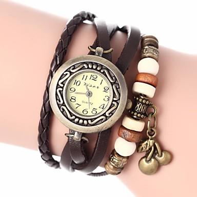 Damen Quartz Armband-Uhr PU Band Böhmische / Modisch Schwarz / Weiß / Blau / Rot / Orange / Braun / Grün