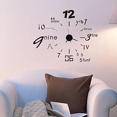 wandklok stickers muur stickers, home decoratie diy klok pvc muurstickers