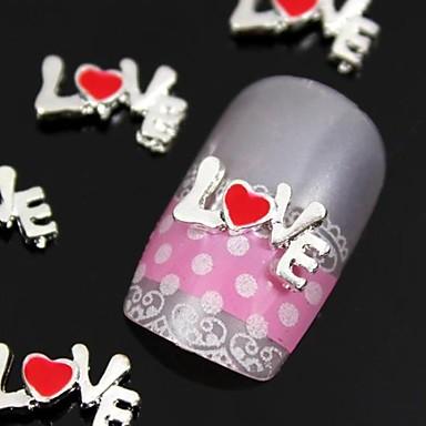 10st 3d legering liefdesbrief karakter nail art decoratie