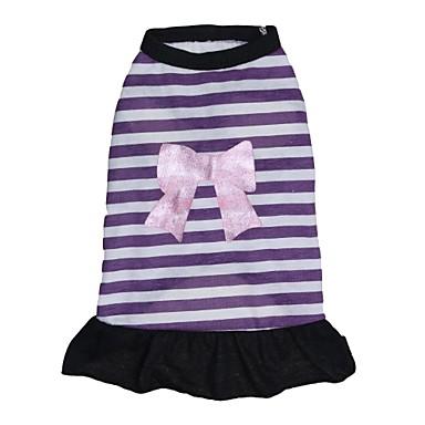 Katze Hund Kleider Hundekleidung Streifen Purpur Baumwolle Kostüm Für Haustiere Damen Lässig/Alltäglich Modisch
