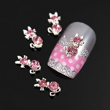 10 buc arc roz cu coada lunga decor Nail Art