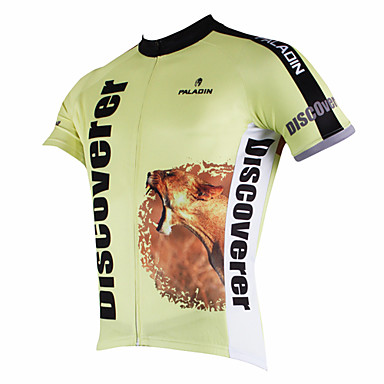 ILPALADINO Cycling Jersey Men's Short Sleeves Bike Jersey Top Quick Dry Ultraviolet Resistant Breathable Polyester 100% Polyester Terylene