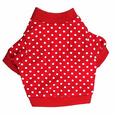 Katze / Hund T-shirt Hundekleidung Punkt Rot Baumwolle Kostüm Für Haustiere