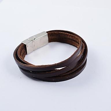 Heren Lederen armbanden - Leder Uniek ontwerp, Modieus Armbanden Bruin Voor Kerstcadeaus / Dagelijks / Causaal