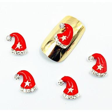 50pcs 3d unghii Crăciun modele false stras de diamant sclipici pentru unghii acrilice sfaturi decoratiuni de artă false unghii