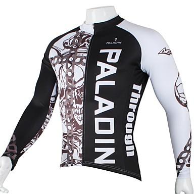 ILPALADINO Jerseu Cycling Bărbați Manșon Lung Bicicletă Jerseu Topuri Îmbrăcăminte Ciclism Uscare rapidă Rezistent la Ultraviolete