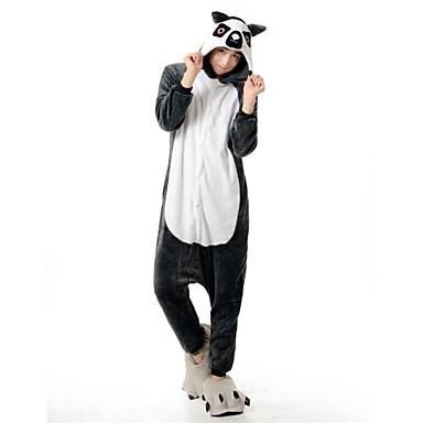 Kigurumi-Pyjamas Bär / Waschbär Pyjamas-Einteiler Kostüm Flanell Vlies Grau Cosplay Für Erwachsene Tiernachtwäsche Karikatur Halloween