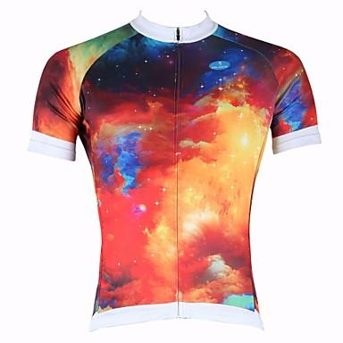 ILPALADINO בגדי ריקוד גברים שרוולים קצרים חולצת ג'רסי לרכיבה שיפוע אופנייים צמרות נושם ייבוש מהיר עמיד אולטרה סגול ספורט 100% פוליאסטר רכיבת הרים רכיבת כביש ביגוד