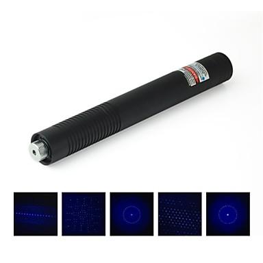 -LT 08889 multi-cap pointer laser albastru (2mW, 450nm, 2x16340, negru)