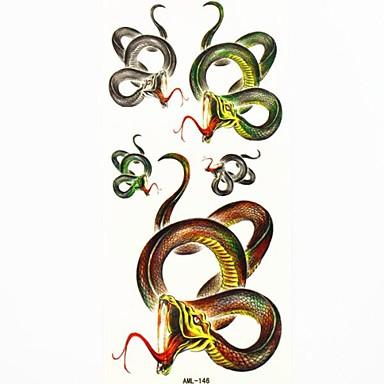 șarpe impermeabil tatuaj temporar eșantion autocolant tatuaje mucegai pentru body art (18.5cm * 8.5cm)