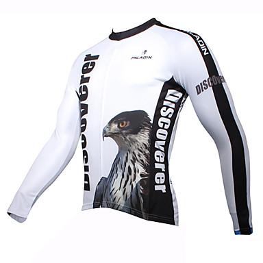 ILPALADINO Herrn Langarm Fahrradtrikot Cartoon Design / Tier Fahhrad Trikot / Radtrikot, warm halten, Rasche Trocknung, UV-resistant