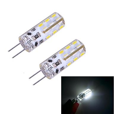 2pcs 100~120 lm G4 LED Doppel-Pin Leuchten 24 Leds SMD 3014 Kühles Weiß DC 12V