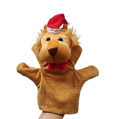 voordelige Marionetten-Leeuw Vingerpoppetjes Poppen Handpop Schattig Noviteit Cartoon tekstiili Pluche Meisjes Speeltjes Geschenk