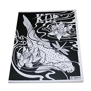 Tattoo-Kunst Manuskript von Fischen