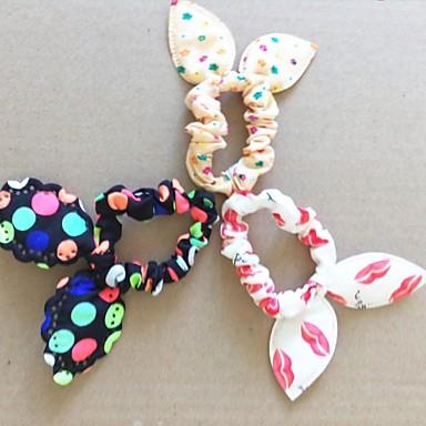 mode lippen dot bloemen super elastische konijnenoren (kleur random)