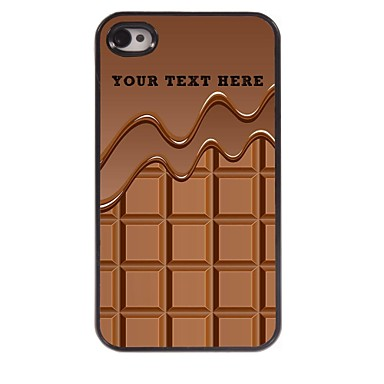 cazul în care telefonul personalizate - ciocolata carcasa de metal de design pentru iPhone 4 / 4s