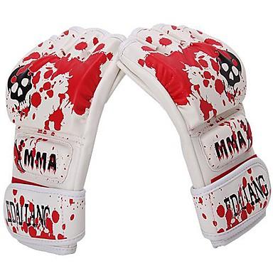 Boxhandschuhe für das Training / MMA-Boxhandschuhe / Boxhandschuhe Für Kampfkunst Fingerlos Einstellbar, Atmungsaktiv, Wasserdicht PU Herrn / Damen - Weiß
