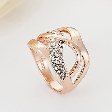 Prstenje Moda Party Jewelry Legura / Umjetno drago kamenje Žene Klasično prstenje 1pc,Univerzalna veličina Zlatna / Srebrna
