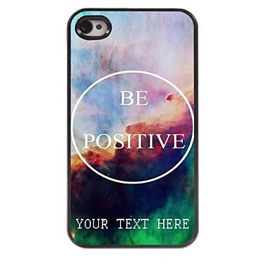 cazul în care telefonul personalizate - fie caz pozitiv de metal de design pentru iPhone 4 / 4s