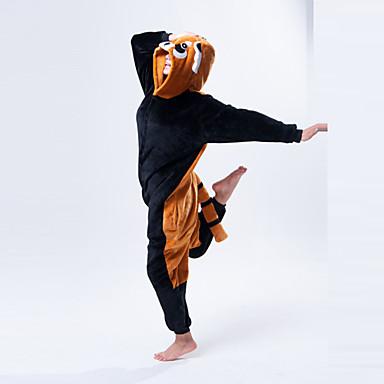 Erwachsene Kigurumi-Pyjamas Waschbär Bär Pyjamas-Einteiler Polar-Fleece Orange Cosplay Für Herren und Damen Tiernachtwäsche Karikatur Halloween Fest / Feiertage