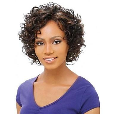 vrouwen dame korte pruiken van synthetisch haar