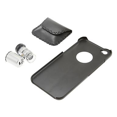 60x микроскоп объектив с черной чехол назад компьютер для Iphone 6
