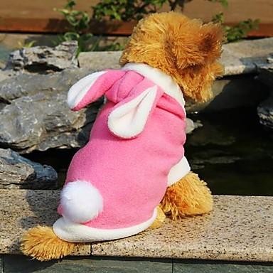Kat Hund Hettegensere Hundeklær Dyr Rød Blå Rosa Polar Fleece Kostume For kjæledyr Cosplay Bryllup