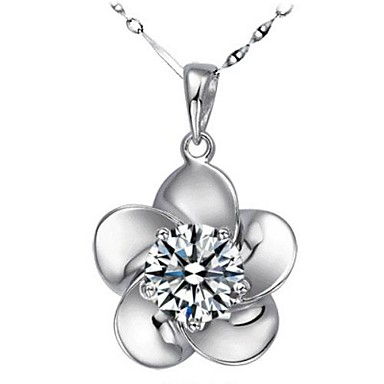 Women's Flower Shape Crystal Rhinestone Silver Wedding Party Special Occasion Anniversary Birthday Engagement Gift Causal Daily Office &