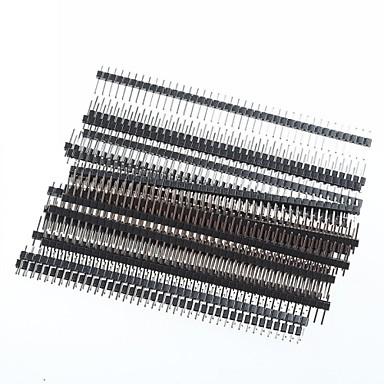 1 x 40 pin 2.54mm delning enda rad rät vinkel pcb Stift- (20st)